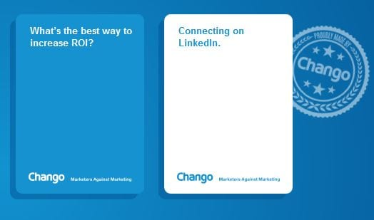 Marketers Against Marketing card examples