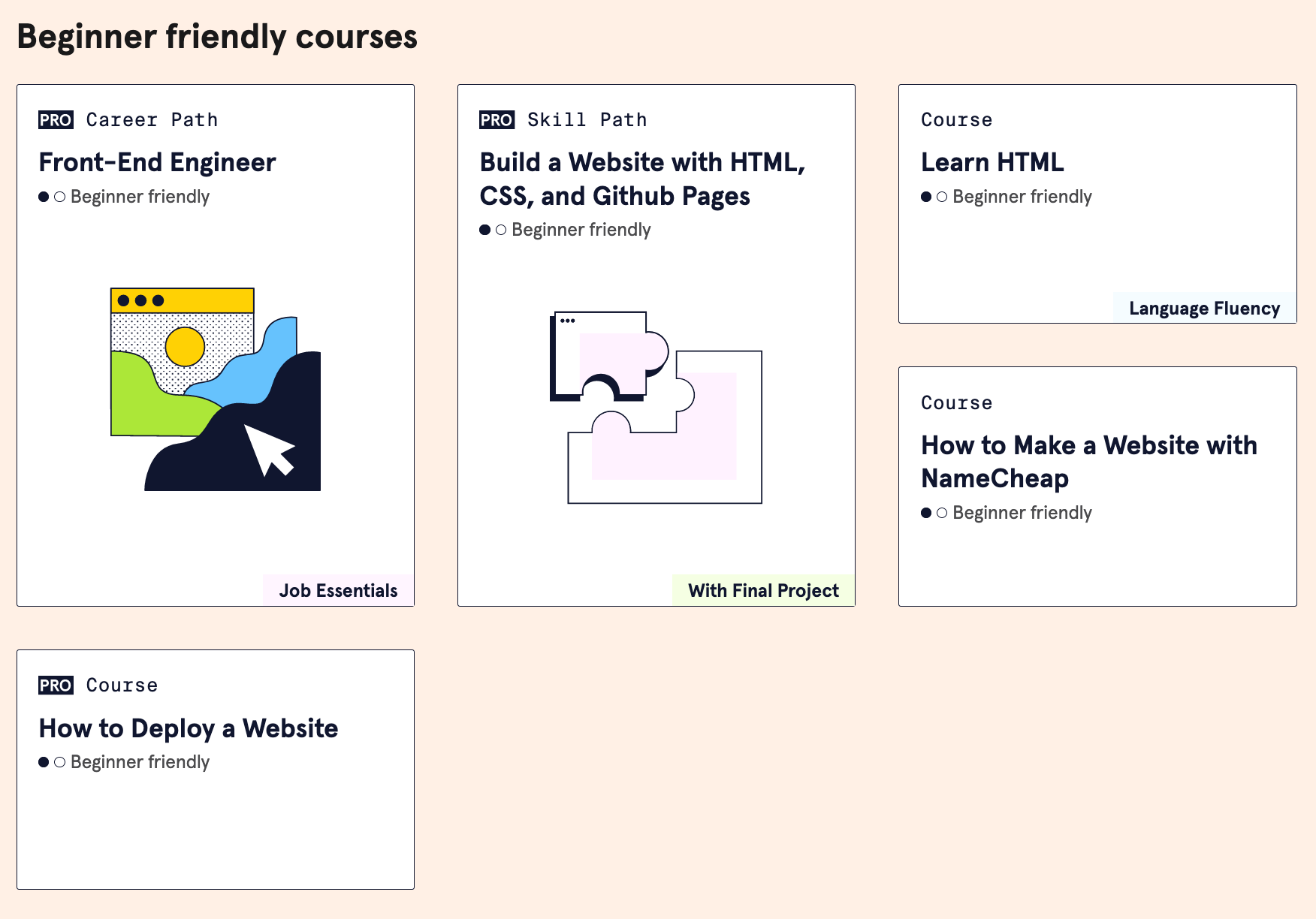 codeacademy html course for seo