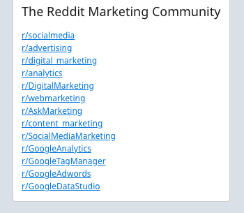 Reddit Marketing Communities